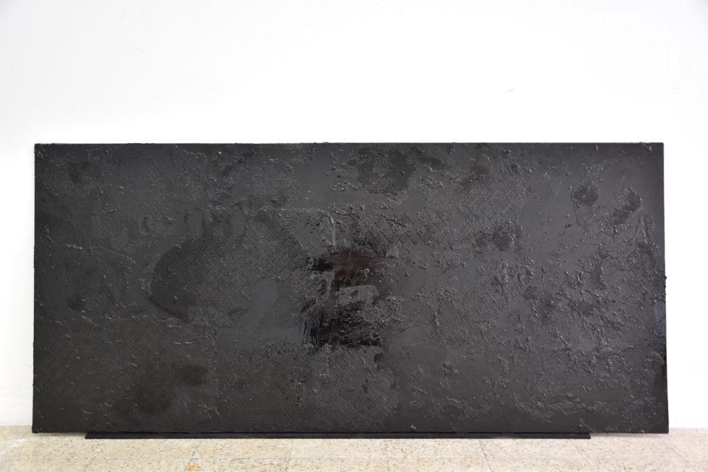Specimen: subcutaneous to dermis, Verhoeff stain, Vol.1a, (2017),   glass, tar, 180x75 cm