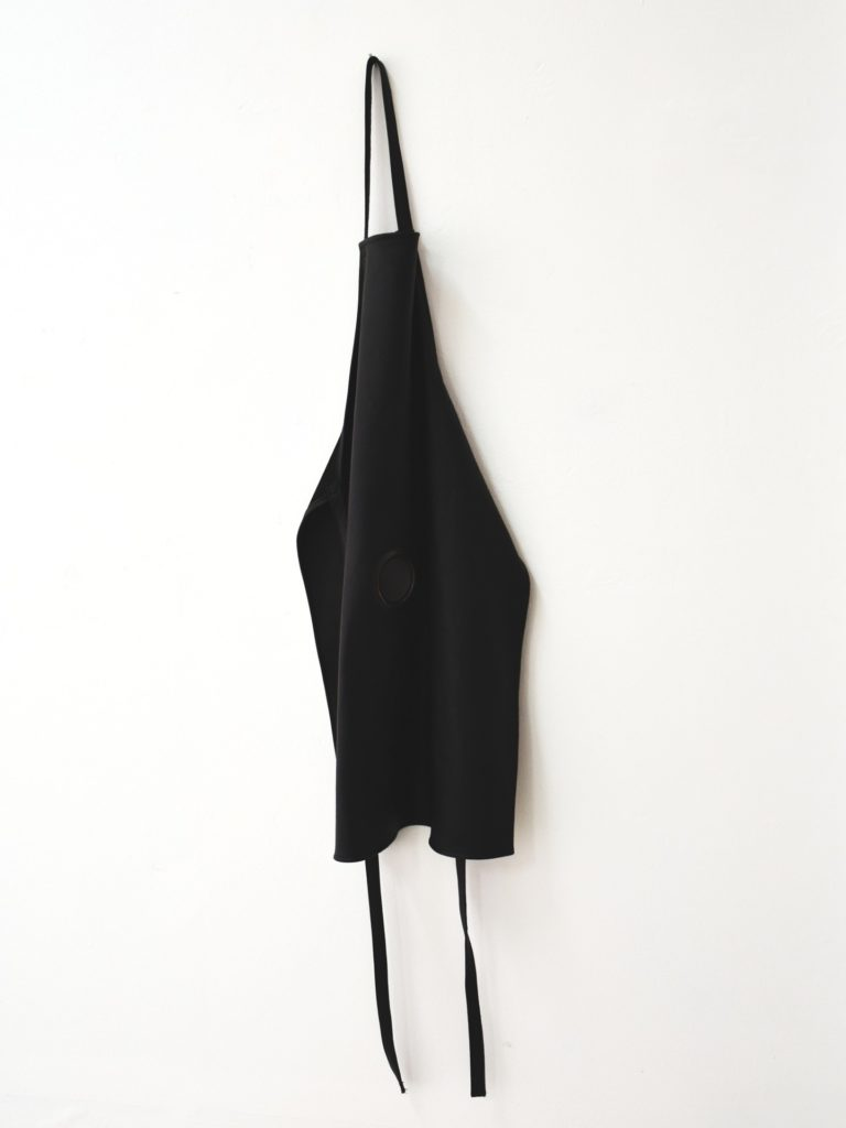 Apron, leather, metal, 116x64cm, 2018